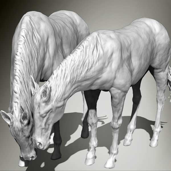 Digital 3d model of a horse