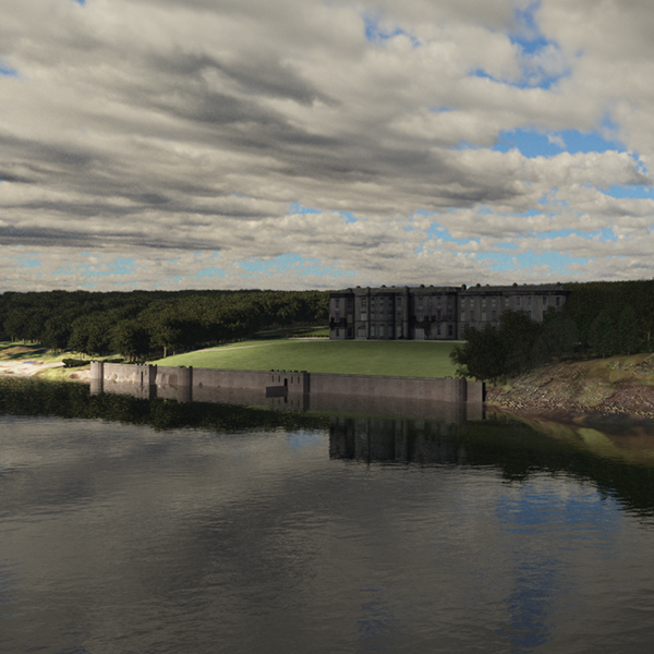 3d digital model of Plas newydd
